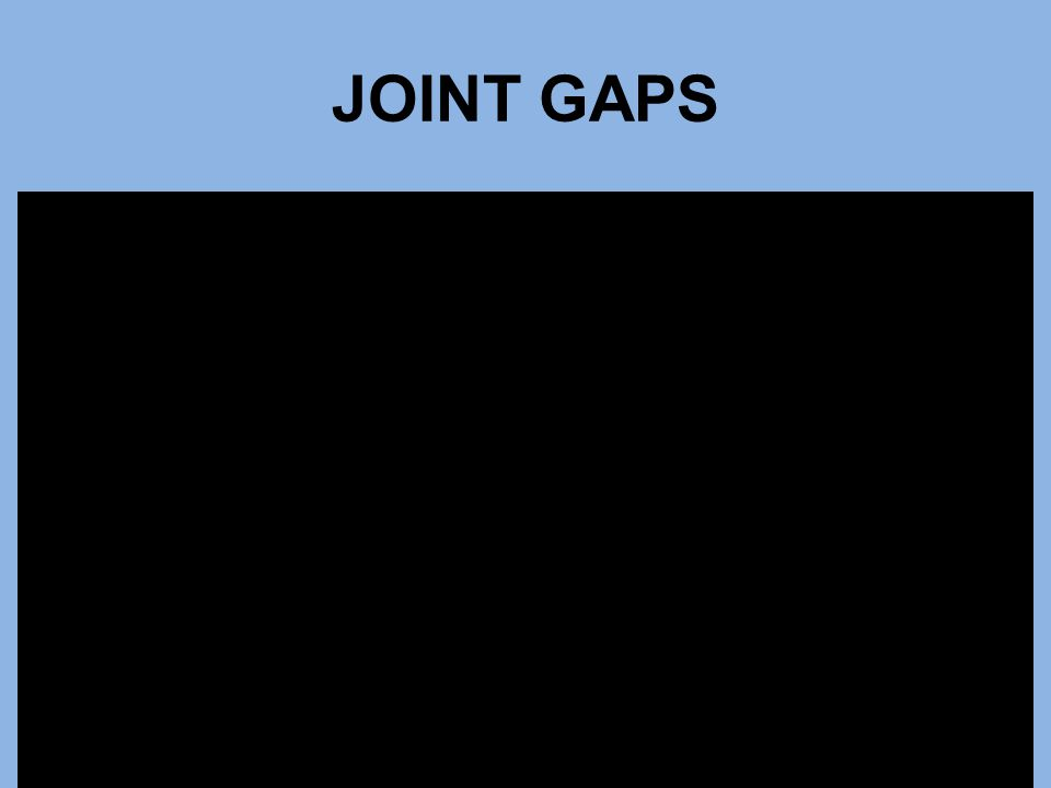 JOINT GAPS