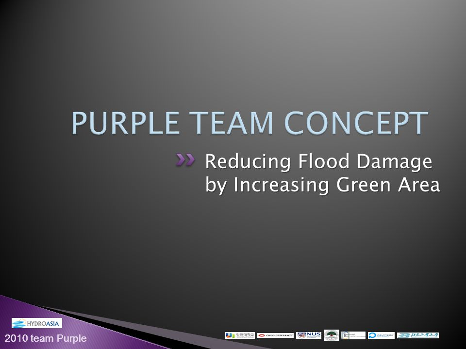 2010 team Purple Reducing Flood Damage by Increasing Green Area
