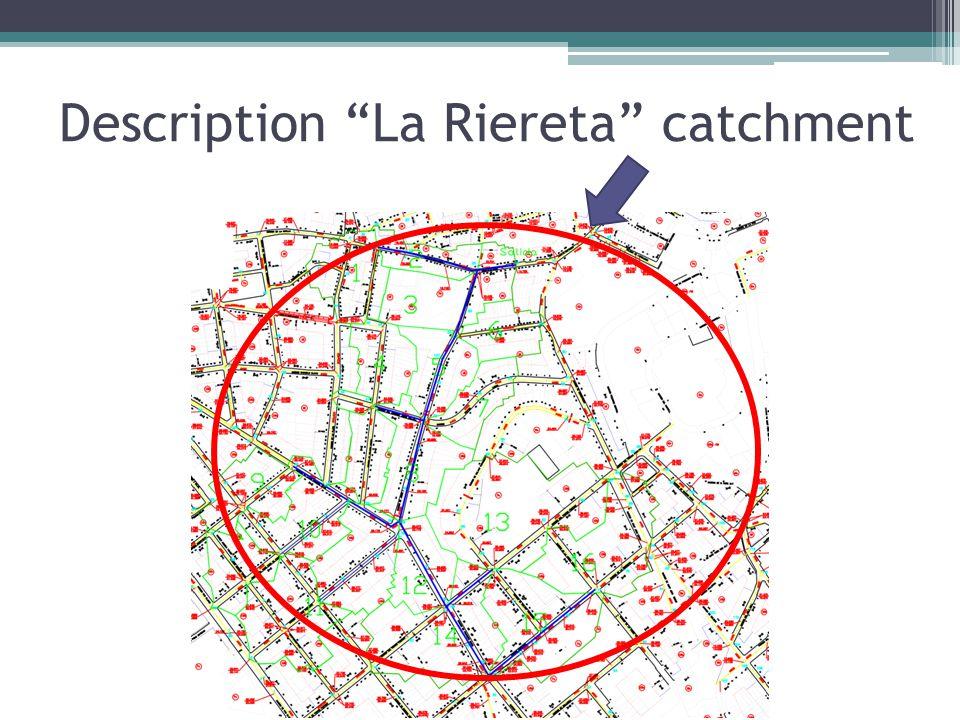 """Description """"La Riereta"""" catchment"""