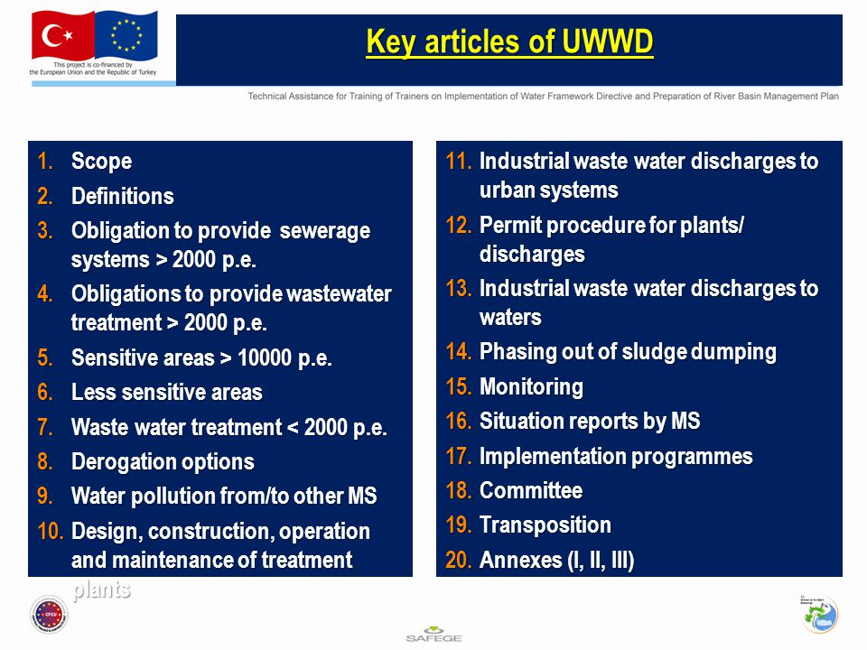 1.Scope 2.Definitions 3.Obligation to provide sewerage systems > 2000 p.e.