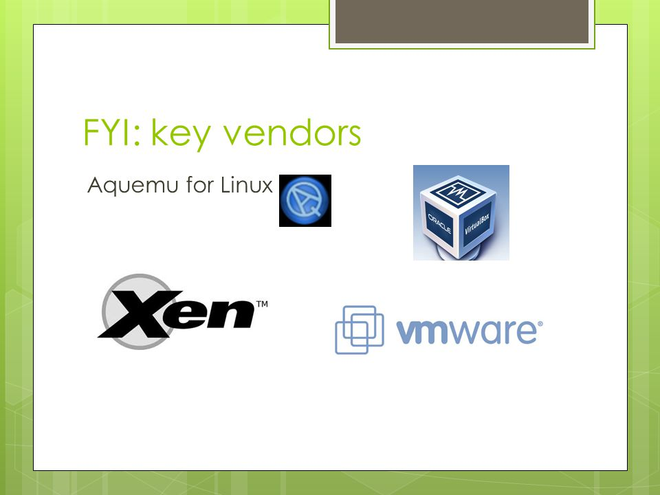 FYI: key vendors Aquemu for Linux