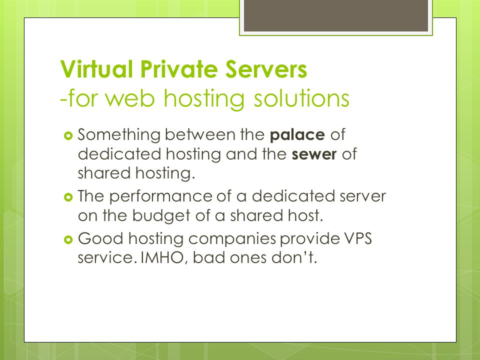 VPS vs Shared host page generation performance on an index.php page  Dreamhost.com shared host: ~2.0 seconds.