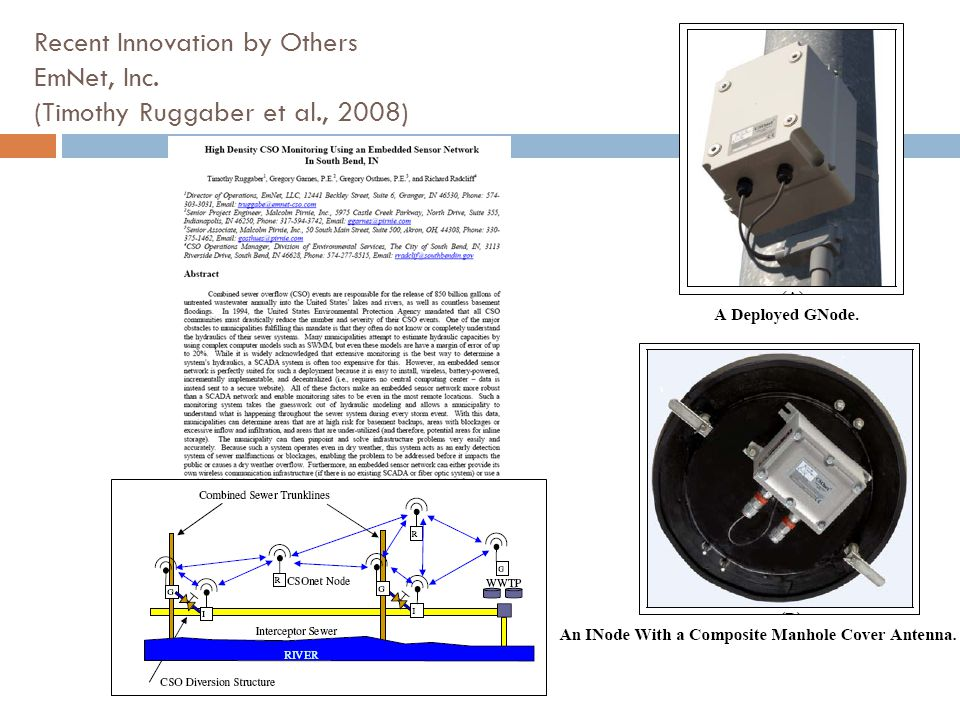 Recent Innovation by Others EmNet, Inc. (Timothy Ruggaber et al., 2008)