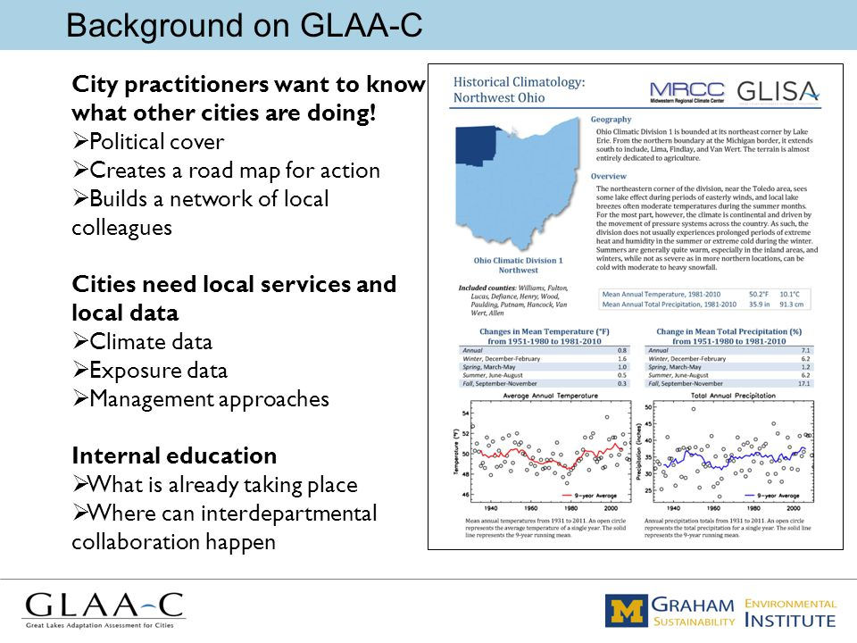 Background on GLAA-C City practitioners want to know what other cities are doing.