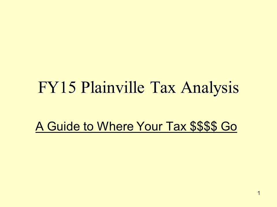 22 FY15 Plainville Tax Analysis