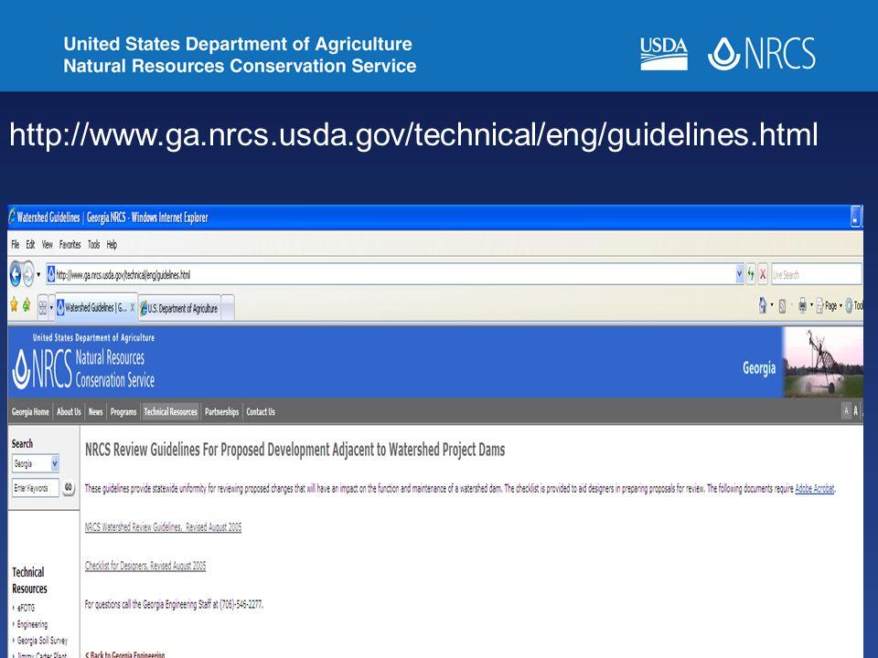 36 http://www.ga.nrcs.usda.gov/technical/eng/guidelines.html