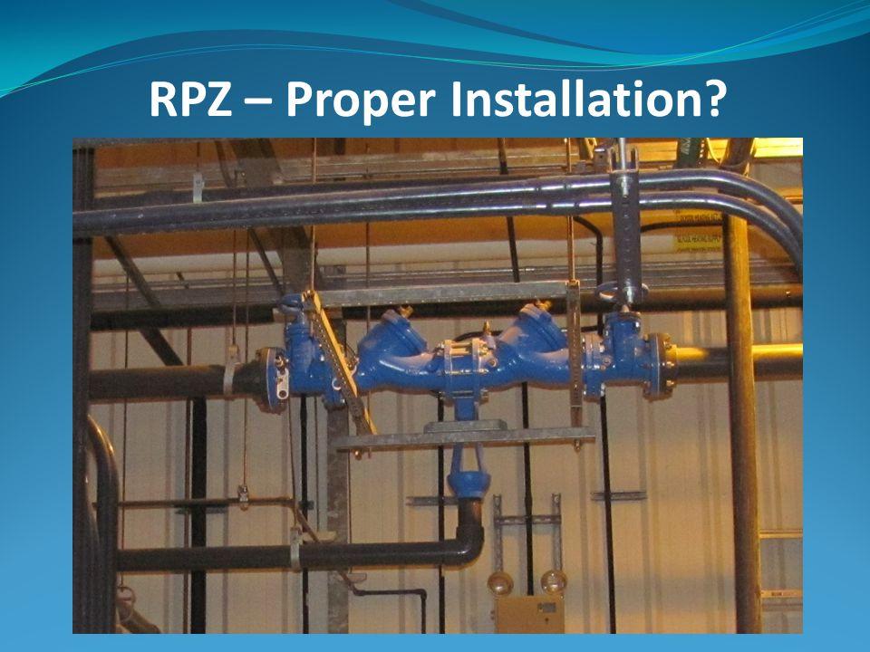 RPZ – Proper Installation?