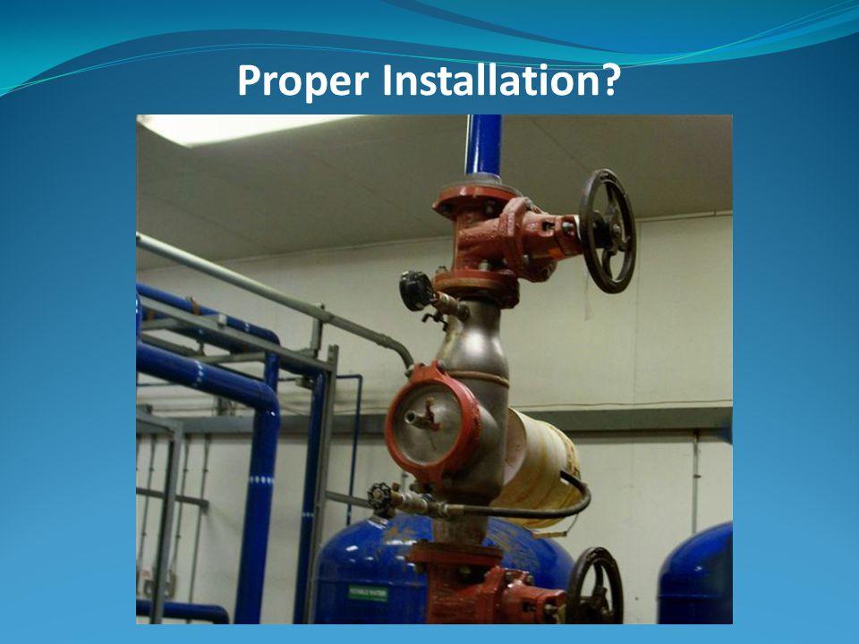 Proper Installation