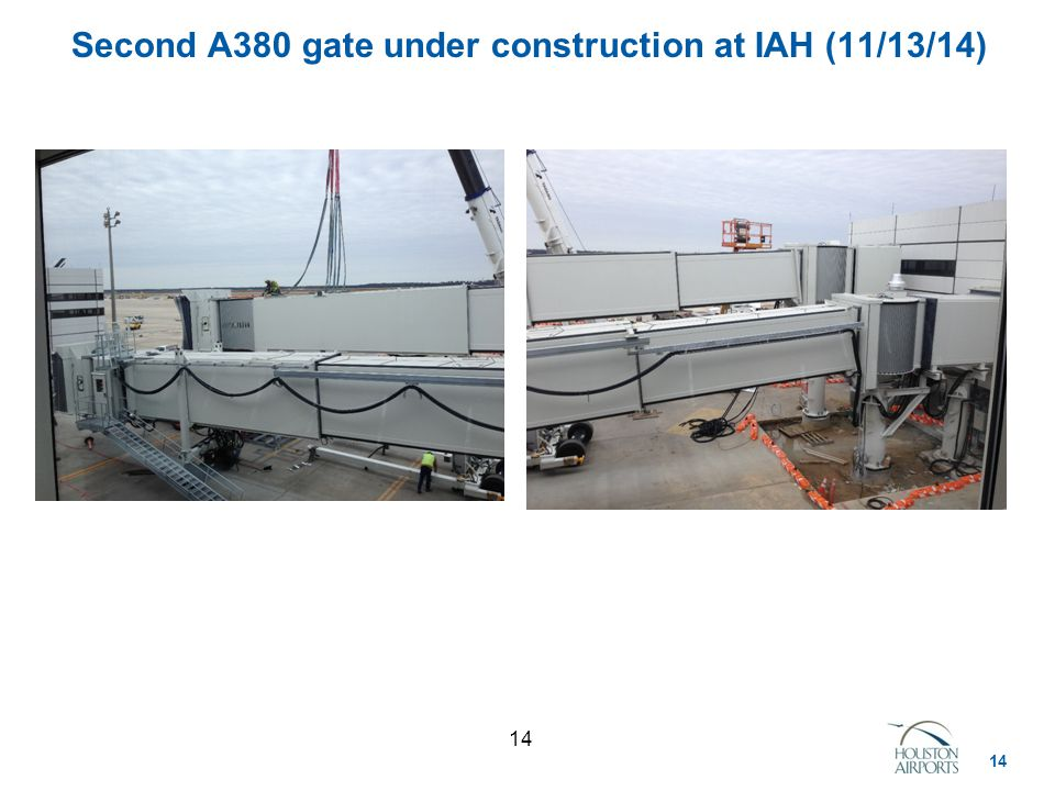 14 Second A380 gate under construction at IAH (11/13/14)