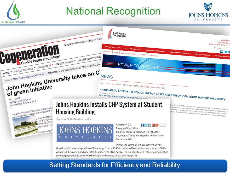 National Recognition Setting Standards for Efficiency and Reliability