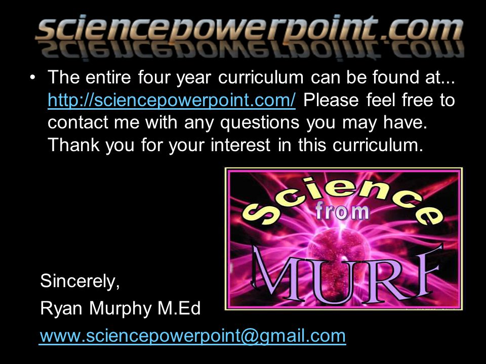 The entire four year curriculum can be found at...