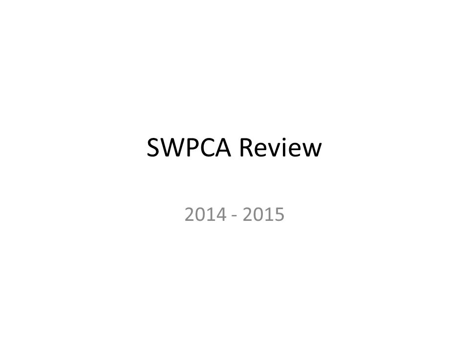 SWPCA Review 2014 - 2015