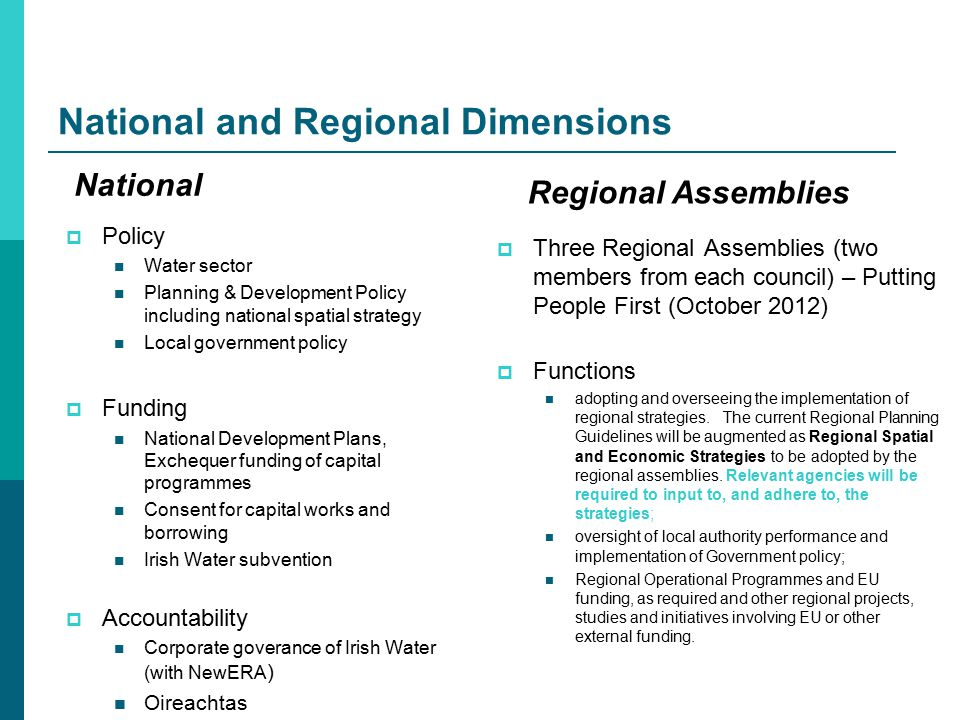 Local authorities  Regulatory functions Functions in relation to river basin management plans, water pollution, etc.