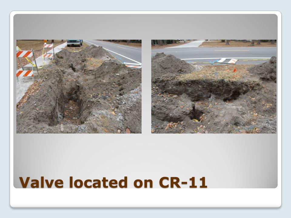 Valve located on CR-11