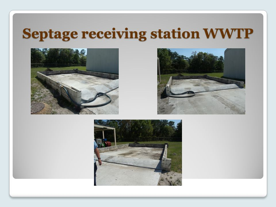Septage receiving station WWTP