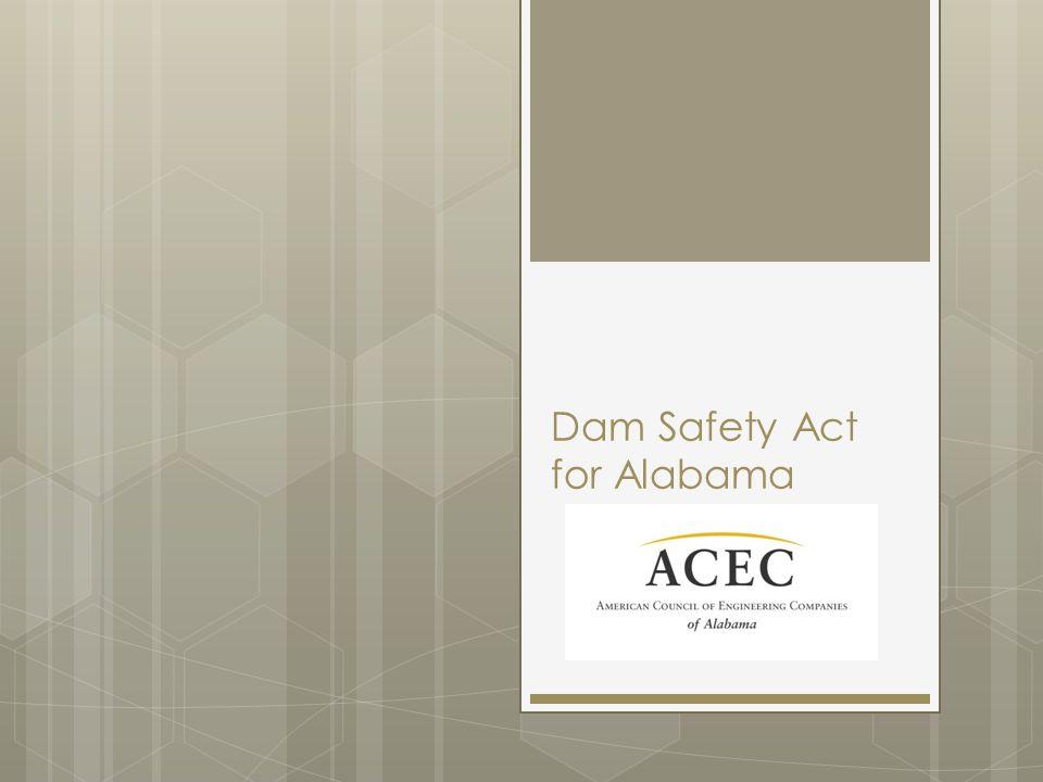 Dam Safety Act for Alabama