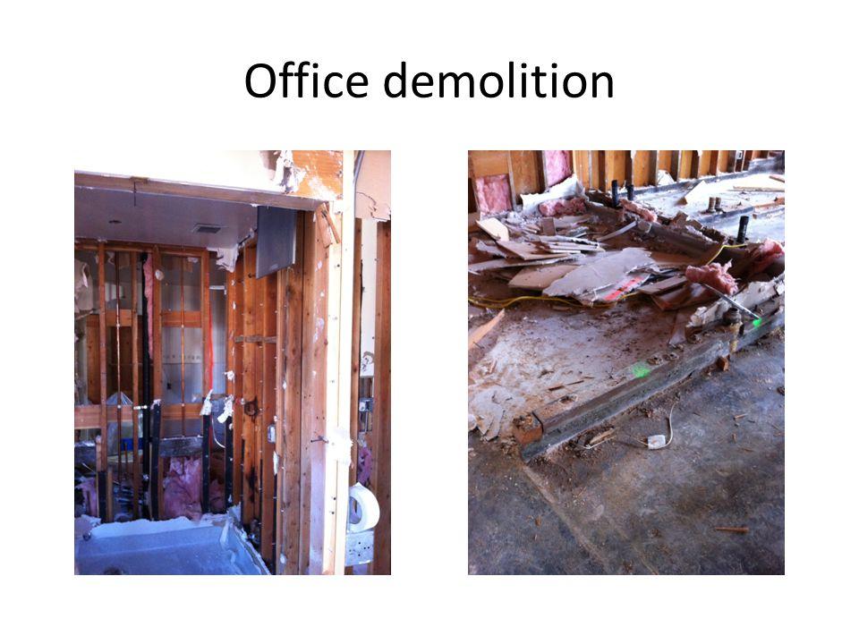 Demolition of Upper Grade Bathrooms