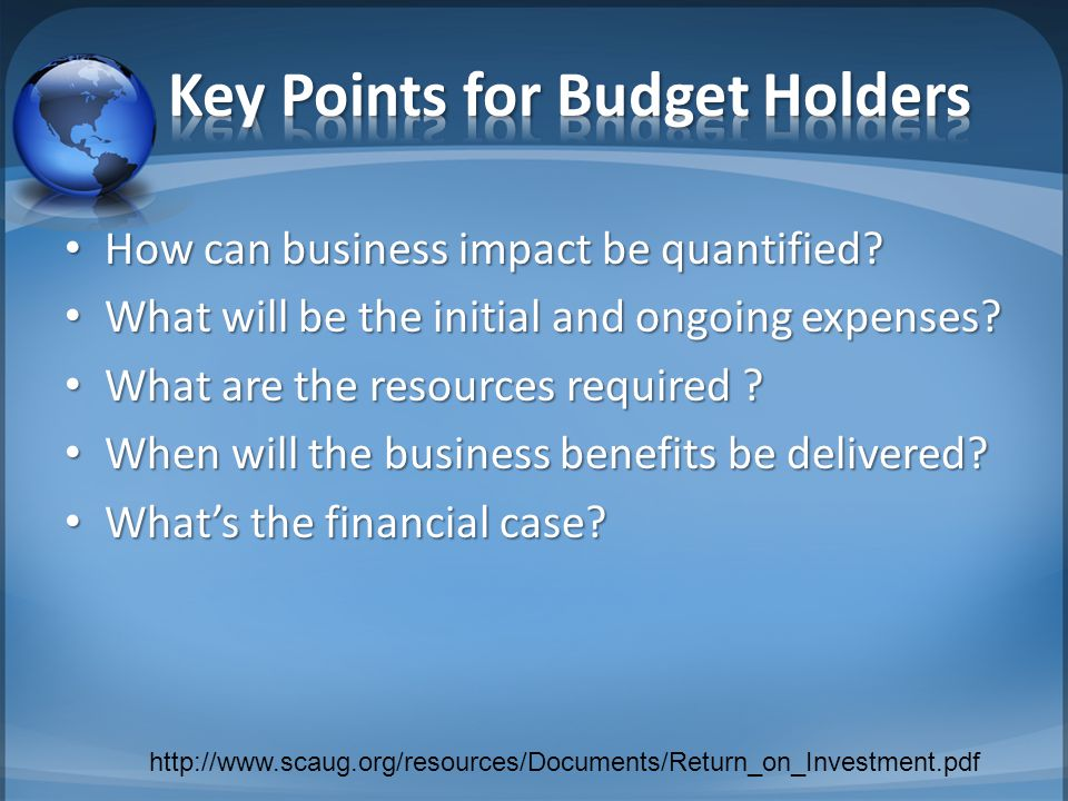 How can business impact be quantified. How can business impact be quantified.