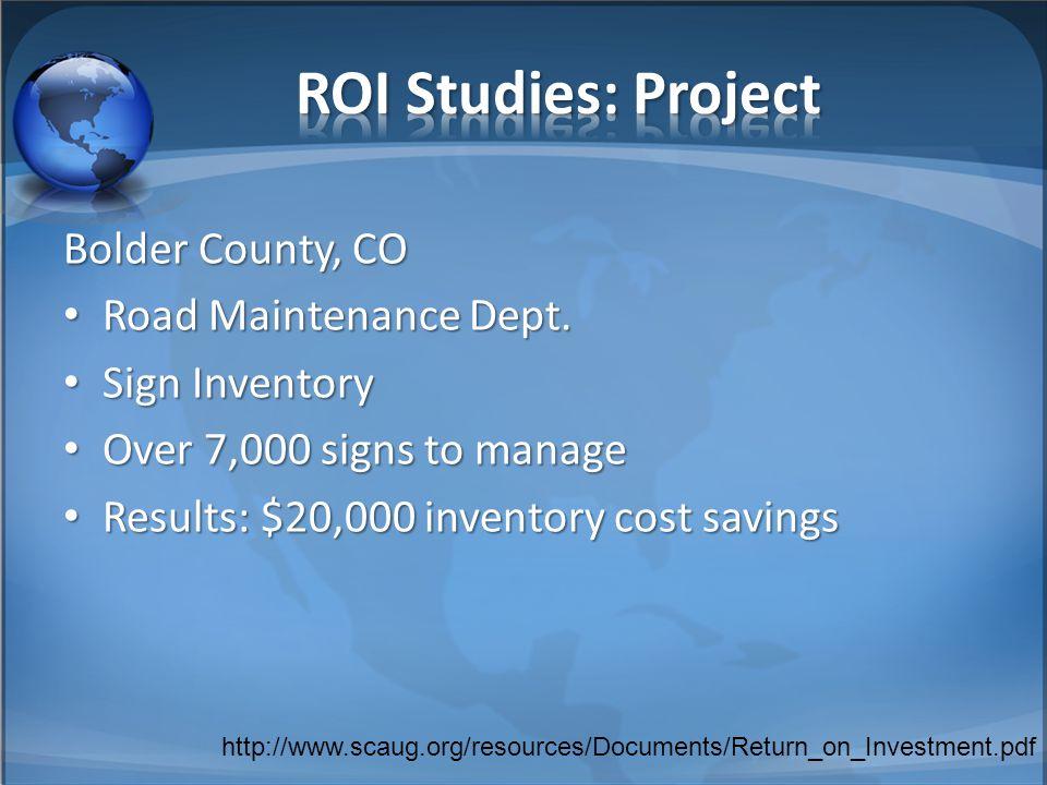 Bolder County, CO Road Maintenance Dept. Road Maintenance Dept.