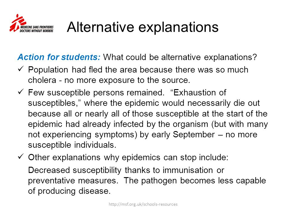 Outbreak description Action for students: How would you describe the outbreak based on the epi curve on a previous slide.
