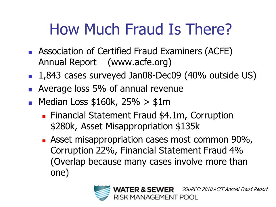 Magic Anti-Fraud Bullet: Segregation of Duties When one person can perform any two of the following, there it's a fraud opportunity: Custody Function Who actually handles the cash, stuff, etc.