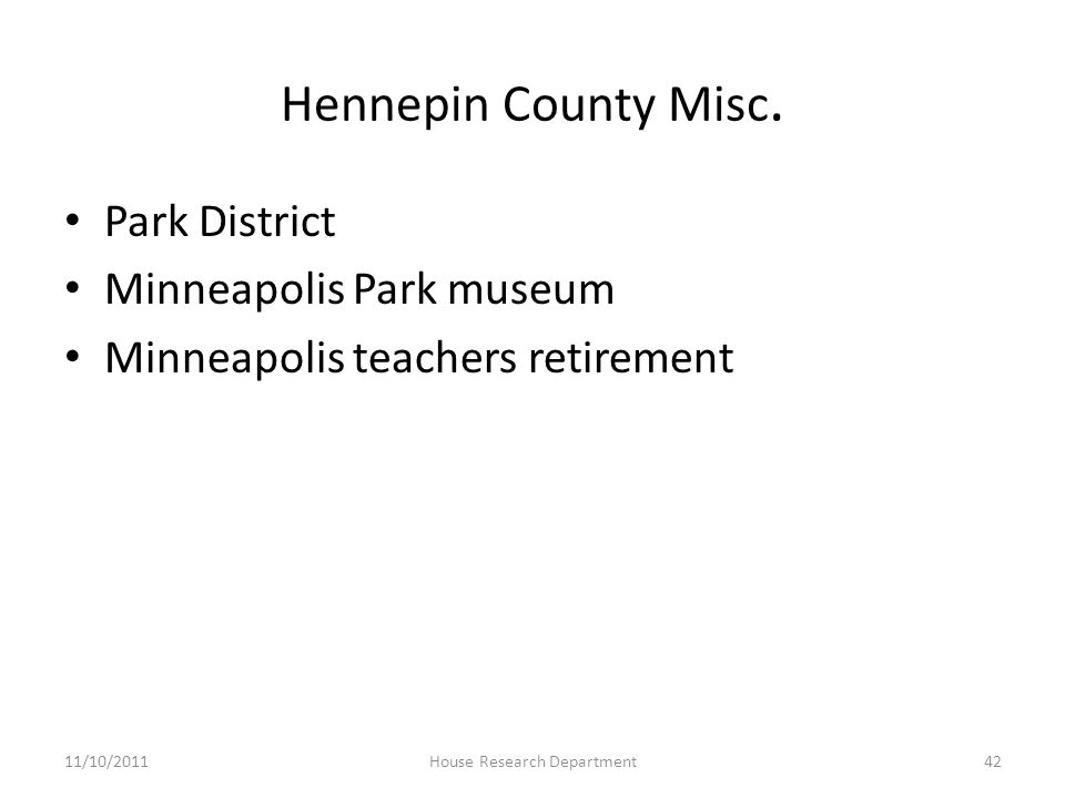 Hennepin County Misc.