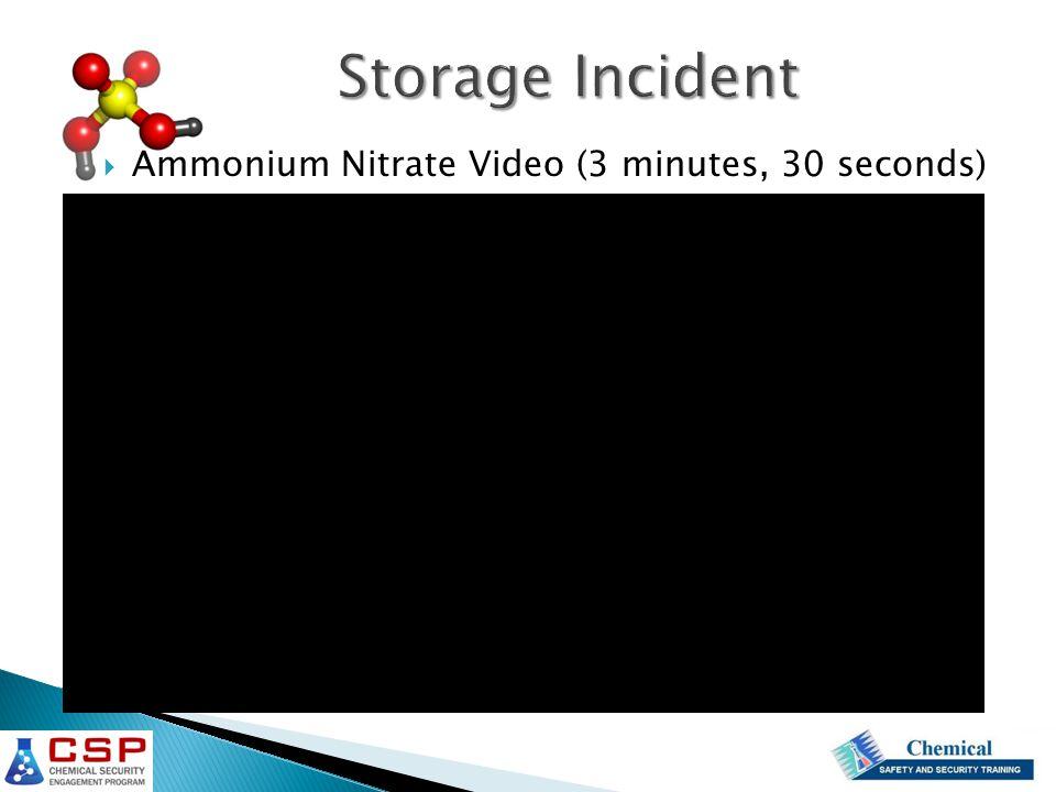  Ammonium Nitrate Video (3 minutes, 30 seconds)