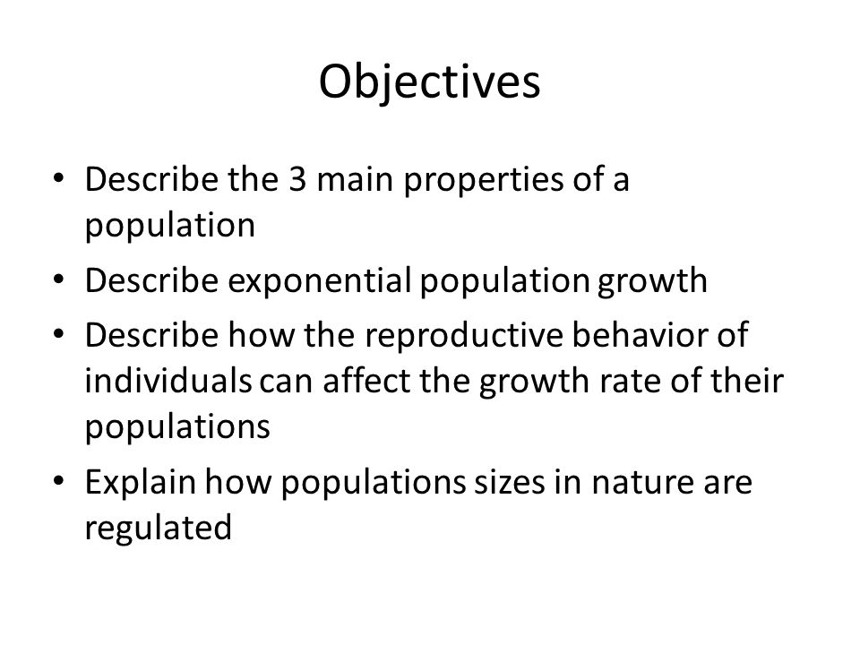 What Limits Population Growth.