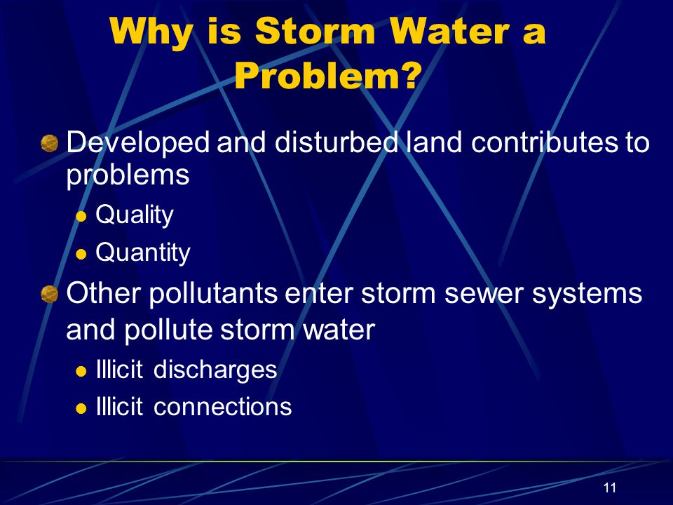 11 Why is Storm Water a Problem.