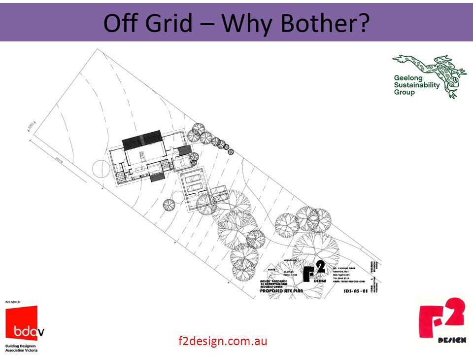 Off Grid – Why Bother? f2design.com.au