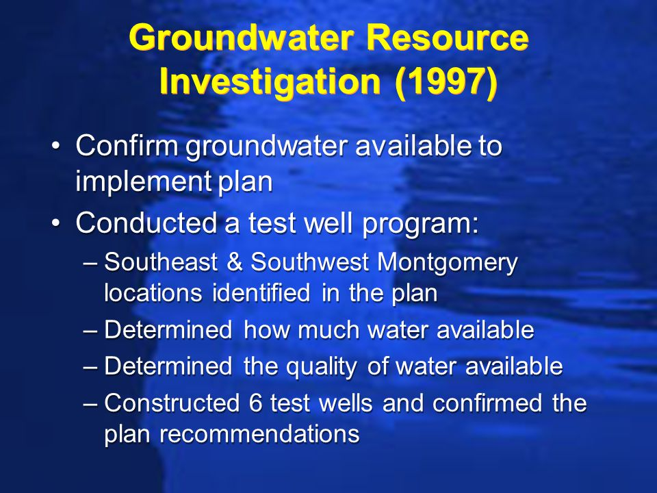 Bottom Line on Water Knew at least 10 mgd available from a new Southwest well field in the vicinity of where Hyundai was locating Had preliminary plans and opinion of cost in place for obtaining the water Could negotiate and make commitments with high degree of certainty Knew at least 10 mgd available from a new Southwest well field in the vicinity of where Hyundai was locating Had preliminary plans and opinion of cost in place for obtaining the water Could negotiate and make commitments with high degree of certainty