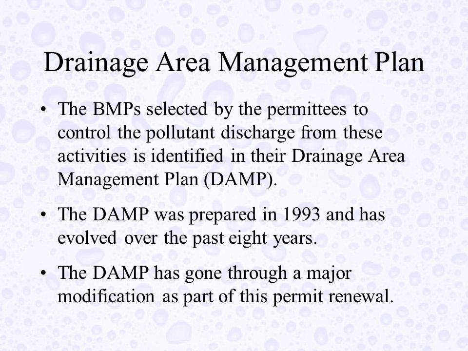 Major Accomplishments During First Two Terms Worked with other local public agencies to provide a consistent message to the public Adopted a model Water Quality Ordinance and an Enforcement Consistency Guide Inspected and eliminated existing illicit connections to the storm drain system