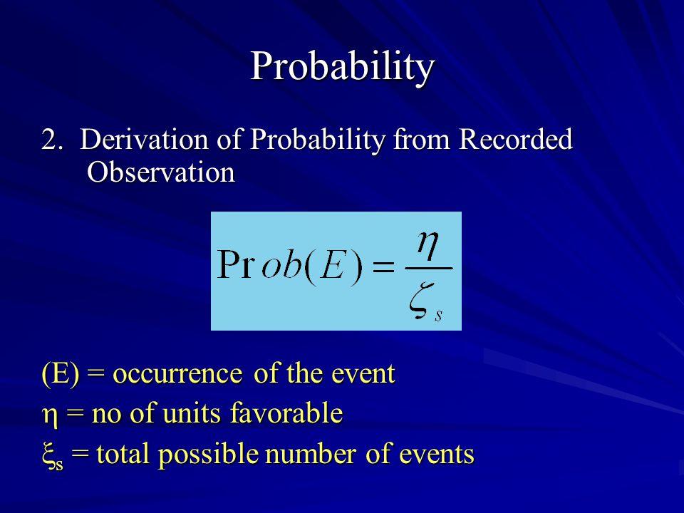 Probability 2.
