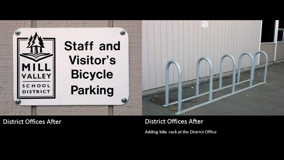 Adding bike rack at the District Office District Offices After