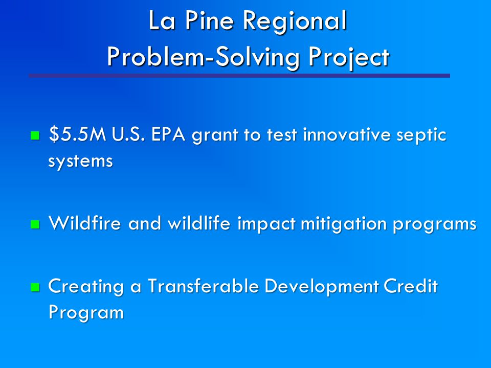 $5.5M U.S. EPA grant to test innovative septic systems $5.5M U.S. EPA grant to test innovative septic systems Wildfire and wildlife impact mitigation