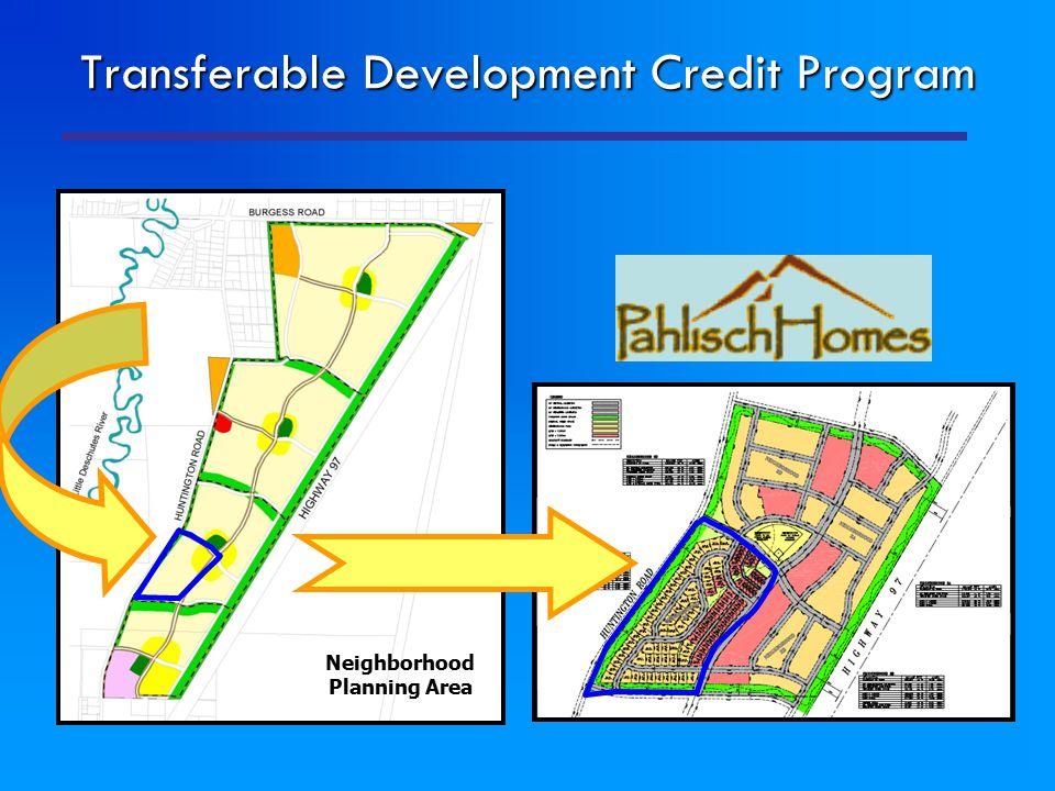 Transferable Development Credit Program Neighborhood Planning Area