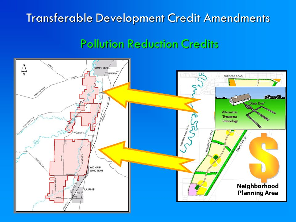 Pollution Reduction Credits Neighborhood Planning Area Transferable Development Credit Amendments