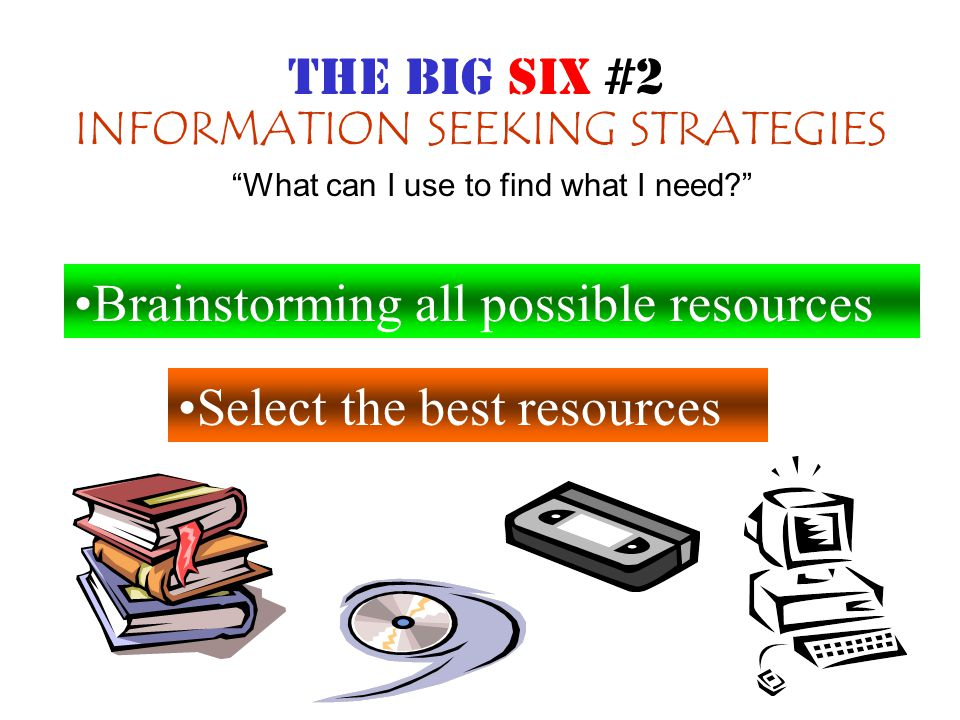 LOCATION & ACCESS Locate Sources Find information within sources What can I use to find what I need? THE BIG SIX #3