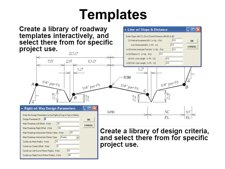 Create a library of design criteria, and select there from for specific project use.