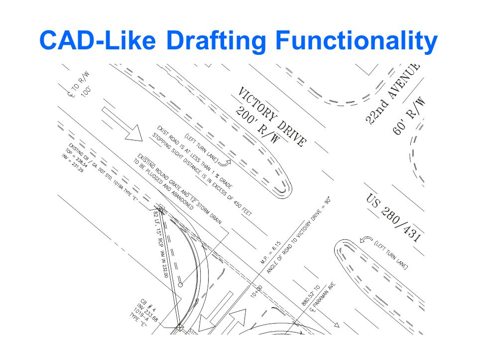 CAD-Like Drafting Functionality