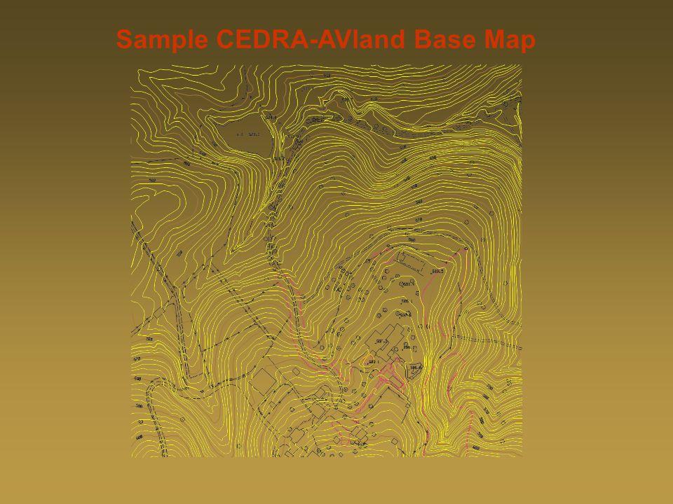 Sample CEDRA-AVland Base MapSample CEDRA-AVland Base Map Sample CEDRA-AVland Base Map