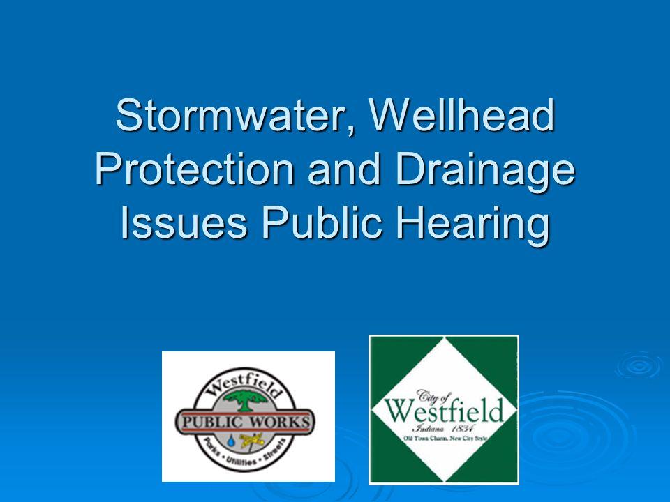 Agenda  Why Stormwater.