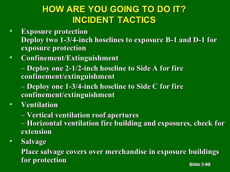 Slide 3-98 HOW ARE YOU GOING TO DO IT.
