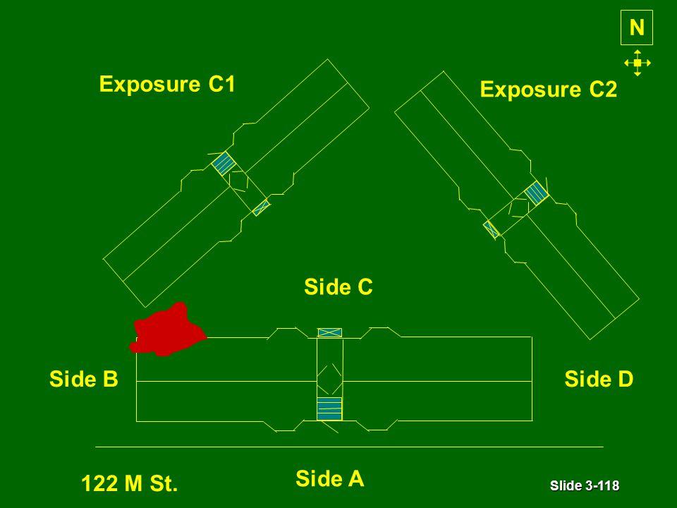 Slide 3-118 N Exposure C1 Exposure C2 Side A Side BSide D Side C 122 M St.