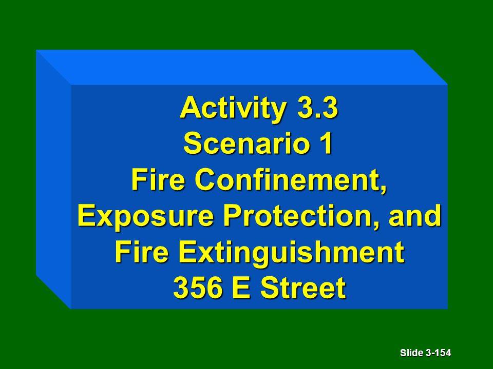 Slide 3-154 Activity 3.3 Scenario 1 Fire Confinement, Exposure Protection, and Fire Extinguishment 356 E Street