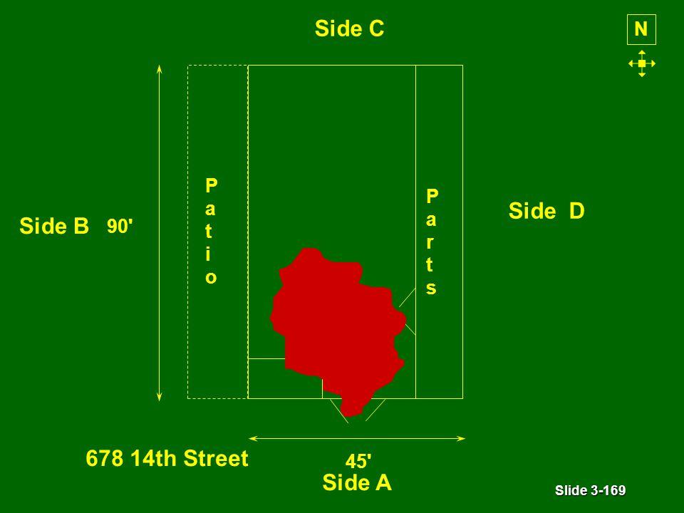 Slide 3-169 PatioPatio PartsParts 45 90 N Side A Side B Side D Side C 678 14th Street