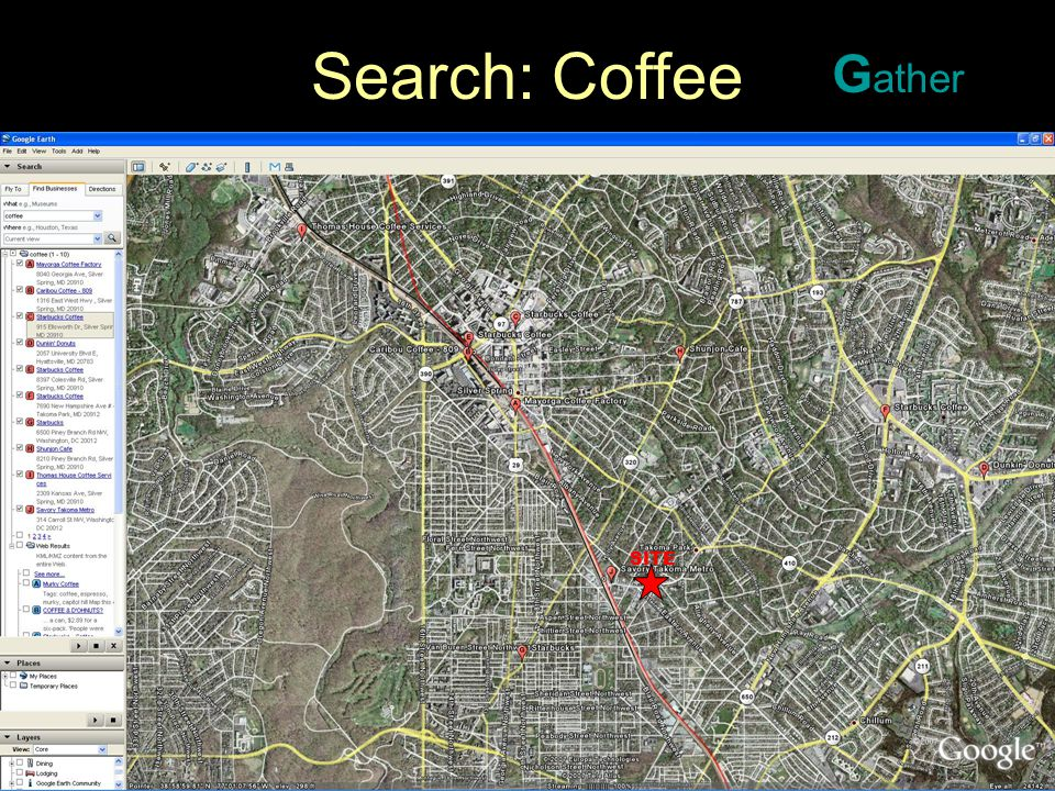 © 2007. Barry D. Yatt. All rights reserved. 9 Search: Coffee G ather SITE