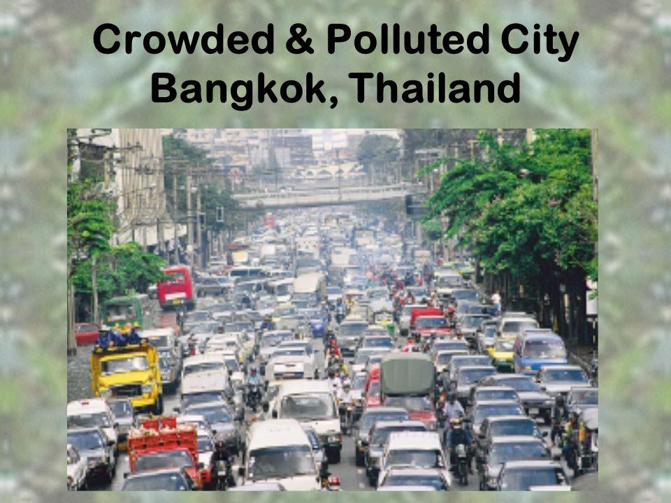 Crowded & Polluted City Bangkok, Thailand