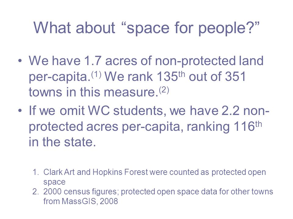 Calculated area is high by ~3,000 acres Counting local slopes over 20% as unbuildable does not make sense –We have examples of developments approved with local slopes well over 24%.