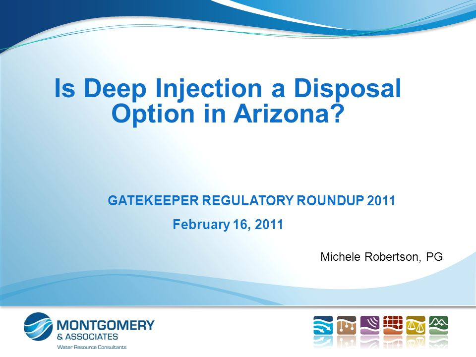 Topics for Discussion Sources of TDS and concentrate Concentrate disposal options Cost comparison of concentrate disposal options Programs that regulate injection wells in Arizona Policy implications Conclusions